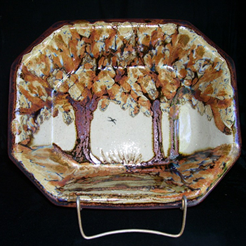 Autumn Octagonal Bowl