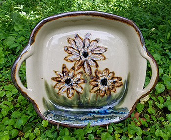 Sunflower Bowl with Handles