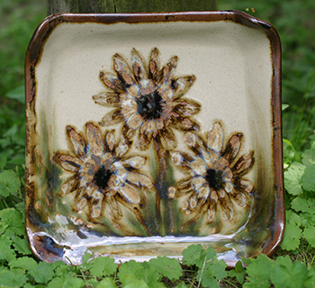 Sunflower Square Plate